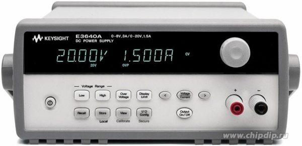 E3640A, Источник питания 8 В/3 А или 20 В/1,5 А (Госреестр РФ)