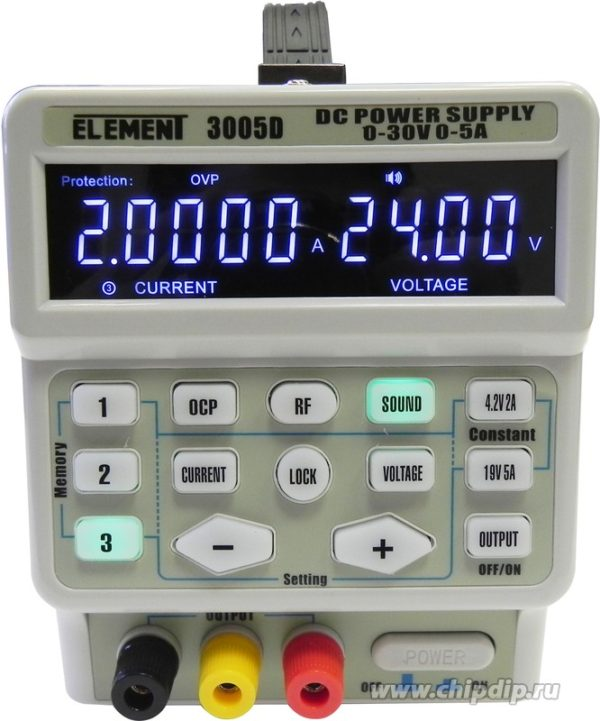 ELEMENT 3005D, Источник питания программируемый 0-30V-5А