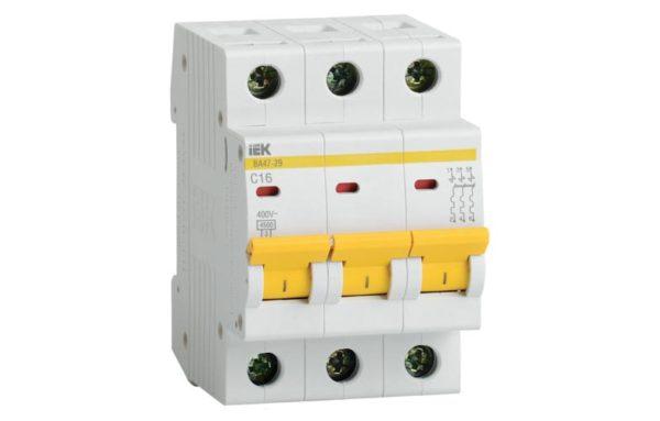 MVA20-3-016-C Авт. выкл.ВА47-29 3Р 16А 4,5кА х-ка С ИЭК