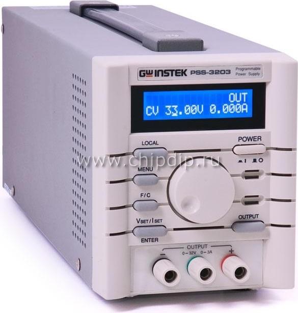 PSS-3203/RS, Источник питания программируемый линейный, 0-32V-3A (Госреестр РФ)