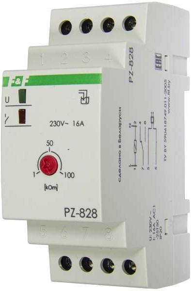 PZ-828, Реле уровня одноуровневый монтаж на DIN-рейке 35мм 230В AC 16А 1перекл. IP20