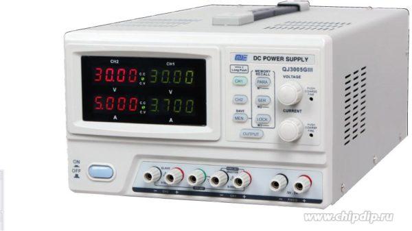 QJ3005G III, Источник питания программируемый 0-30V-5Ax2;5V3A
