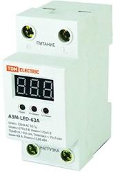 SQ1504-0020, Реле напряжения однофазное 63А АЗМ LED-63А-220В