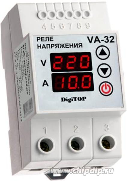 VA-32A, Реле напряжения с контролем тока VA-protector 32A
