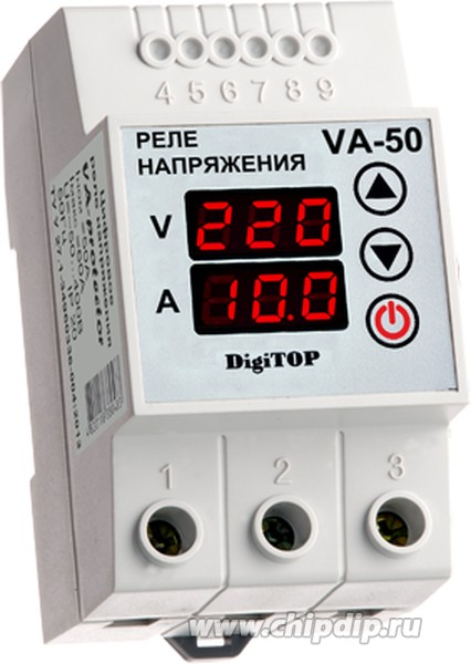 VA-50, Реле напряжения с контролем тока VA-protector 50A