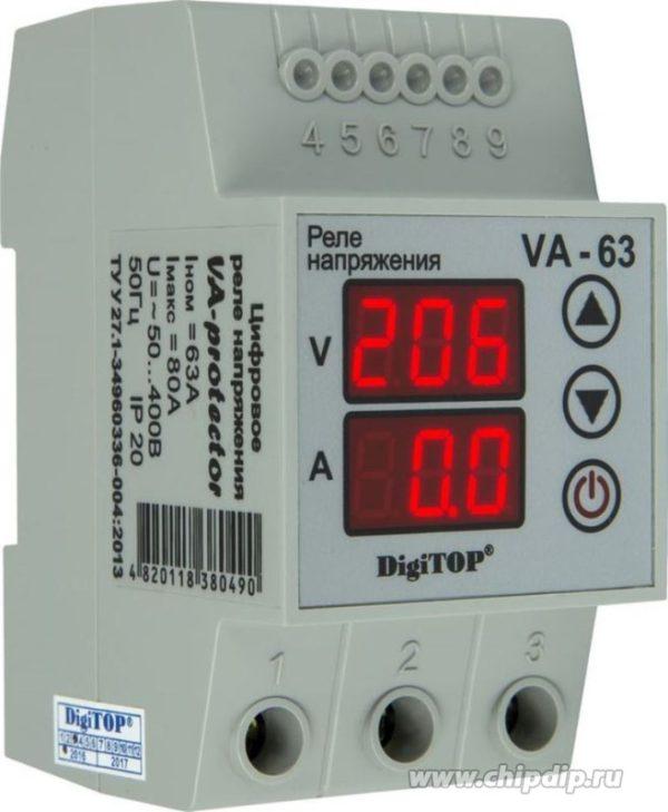 VA-63A, Реле напряжения с контролем тока VA-protector 63A
