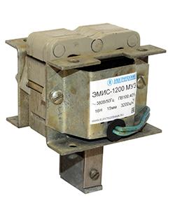 ЭМИС-1200 МУ3, 220В, толкающее исполнение, ПВ 100%, IP20, с гибкими выводами, электромагнит (ЭТ)