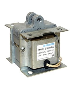 ЭМИС-3100 МУ3, 220В, тянущее исполнение, ПВ 100%, IP20, с гибкими выводами, электромагнит (ЭТ)