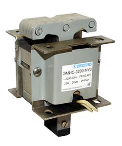 ЭМИС-3200 МУ3, 380В, толкающее исполнение, ПВ 100%, IP20, с гибкими выводами, электромагнит (ЭТ)