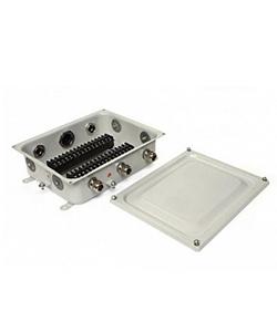 КЗНС-32 У2, 32 зажима, сальники 6 шт алюм. IP65, коробка клеммная с наборными зажимами (ЭТ)