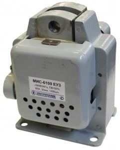 МИС-6100 ЕУ3, 220В, тянущее исполнение, ПВ 100%, IP20, с жесткими выводами, электромагнит (ЭТ)