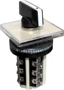 ПМОВ-112222/I-Д55 У3, 6,3А, 380В, с самовозвратом, 45-0-45°, установка с монтажной стороны панели, IP10, переключатель