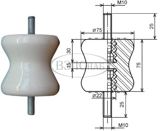 Изолятор 2820 (аналог К-709, К-710, К-711)