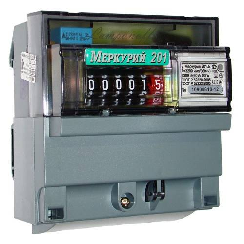 Счетчик электроэнергии  Меркурий 201.5 5(60)А однотарифный ОУ