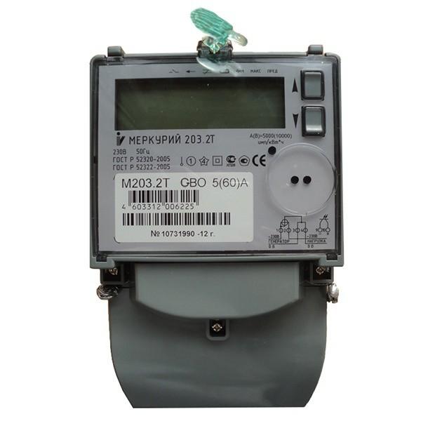 Счетчик электроэнергии  Меркурий 203.2Т GBO 5(60)А многотарифный ЖКИ