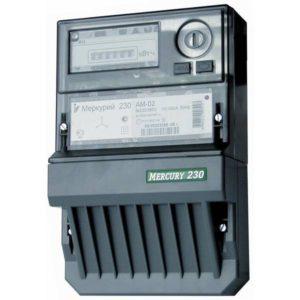 Счетчик электроэнергии  Меркурий 230 AM-02 10(100)А однотарифный ОУ