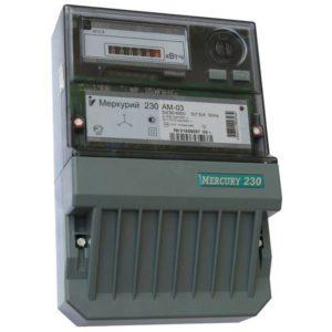 Счетчик электроэнергии  Меркурий 230 AM-03 5(7,5)А однотарифный ОУ