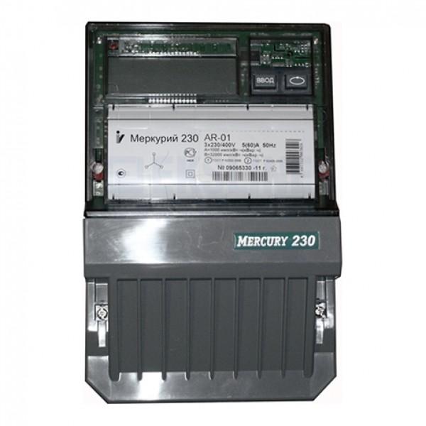 Счетчик электроэнергии  Меркурий 230 AR-01 CL 5(60)А однотарифный ЖКИ