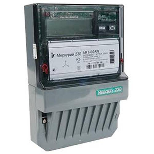 Счетчик электроэнергии  Меркурий 230 ART-00 С(R)N 5(7,5)А многотарифный ЖКИ