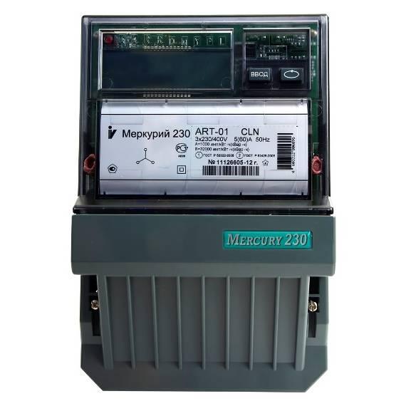 Счетчик электроэнергии  Меркурий 230 ART-01 CLN 5(60)А многотарифный ЖКИ