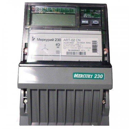 Счетчик электроэнергии  Меркурий 230 ART-02 С(R)N 10(100)А многотарифный ЖКИ