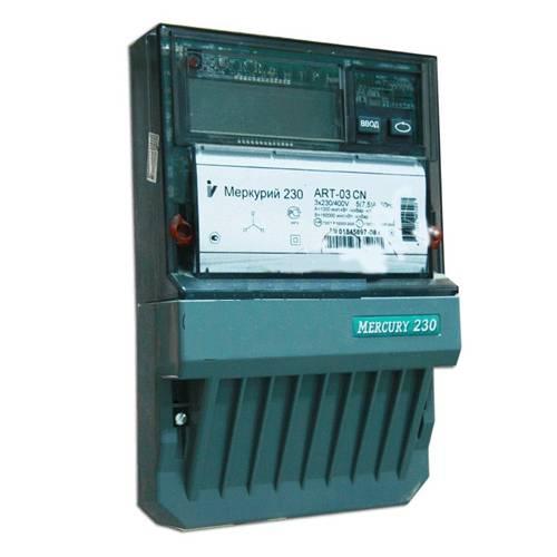 Счетчик электроэнергии  Меркурий 230 ART-03 С(R)N 5(7,5)А многотарифный ЖКИ