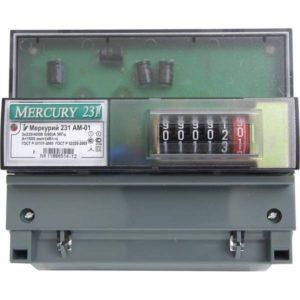 Счетчик электроэнергии  Меркурий 231 AM-01 5(60)А однотарифный ОУ