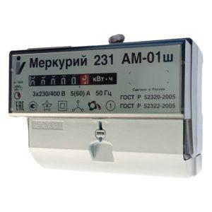 Счетчик электроэнергии  Меркурий 231 AM-01 Ш 5(60)А однотарифный ОУ