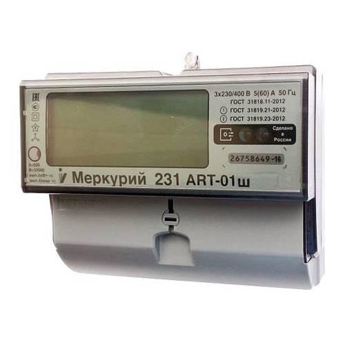 Счетчик электроэнергии  Меркурий 231 ART-01Ш 5(60)А многотарифный ЖКИ