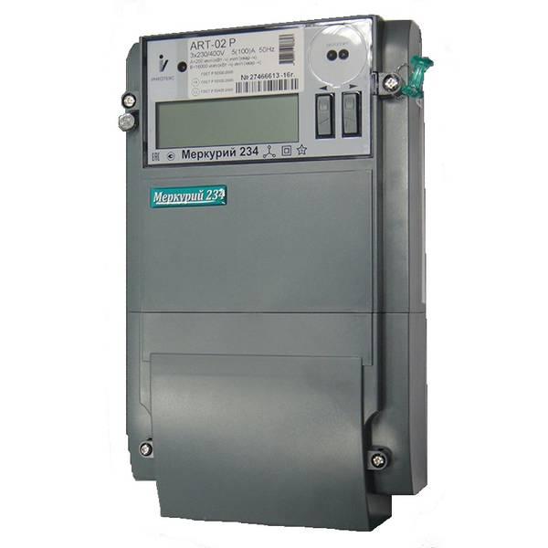 Счетчик электроэнергии Меркурий 234 ART-02 L1 5(100)А многотарифный ЖКИ