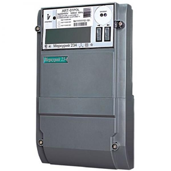 Счетчик электроэнергии  Меркурий 234 ART2-00 P   5(10)А многотарифный ЖКИ