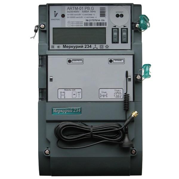 Счетчик электроэнергии  Меркурий 234 ARTM2-00 PB.G 5(10)А ЖКИ