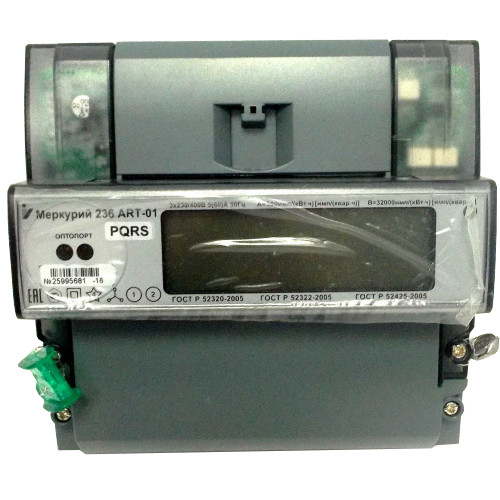 Счетчик электроэнергии  Меркурий 236 ART-01 PQRS 5(60)А многотарифный ЖКИ