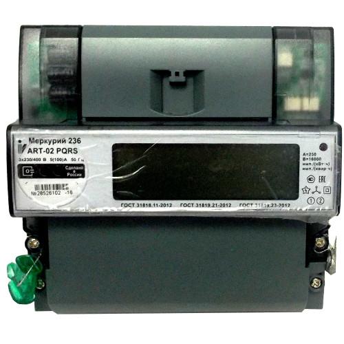 Счетчик электроэнергии  Меркурий 236 ART-02 PQRS 10(100)А многотарифный ЖКИ