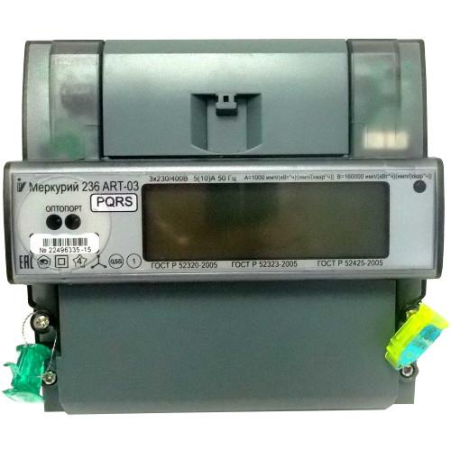 Счетчик электроэнергии  Меркурий 236 ART-03 PQRS 5(10)А многотарифный ЖКИ