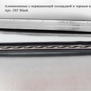 Алюминиевые пороги с нержавеющей площадкой Всепороги для Acura MDX 2014-2016