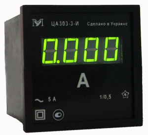 Амперметр ЦА0204. Амперметр цифровой 96х96мм ЦА0204-3-С