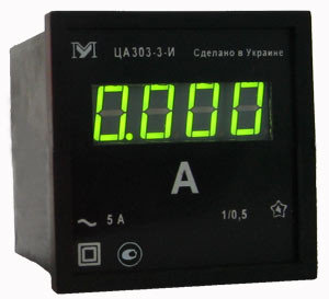 Амперметр ЦА0204. Амперметр цифровой 96х96мм ЦА0303-2-С