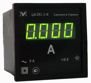Амперметр ЦА0204. Амперметр цифровой 96х96мм ЦА0303-3-С