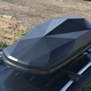 Автобокс Diamond, 440 л, черный глянец