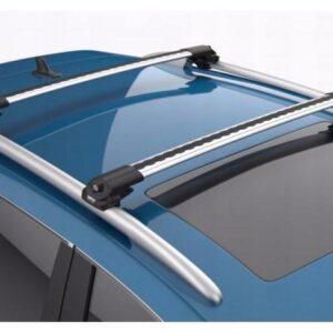 Багажник на рейлинги с просветом Сan Otomotiv Turtle AIR 1 Silver, 106 см