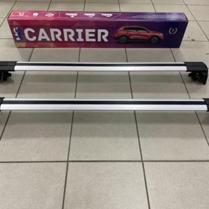 Багажные поперечины для интегрированных рейлингов серебристые, Carrier V2 Thundra