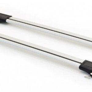 Багажные поперечины Wingcarrier V1 Erkul для рейлингов с просветом, серебристые на PEUGEOT BIPPER 2008