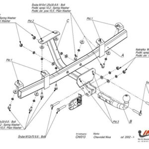 Фаркоп Chevrolet Niva 2002- условно-съемное крепление шара
