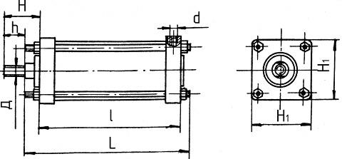 Пневмоцилиндр поршневой ПЦ