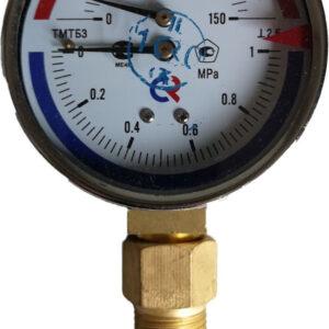 Термоманометр биметаллический РОСМА ТМТБ-31Р.1 0+150, G1/2, 0-1.0Мпа, 2.5, радиальный