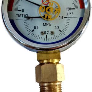 Термоманометр биметаллический РОСМА ТМТБ-31Р.1 0+150оС, G1/2, 0-0.4Мпа, 2.5, радиальный