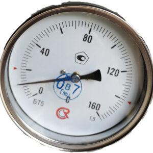 Термометр биметаллический БТ-51.111 (0+160) 64мм, G1/2, 1.5, осевой, показывающий