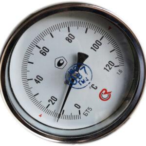 Термометр биметаллический БТ-51.211 (0+120) 150мм, G1/2, 1.6, осевой, показывающий