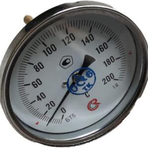 Термометр биметаллический БТ-51.211 (0+200) 100мм, G1/2, 1.6, осевой, показывающий